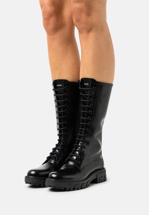 AXEL MID BOOT - Lace-up boots - black