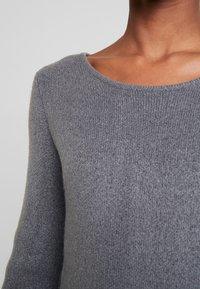 TOM TAILOR - DRESS - Pletené šaty - anthracite melange - 4