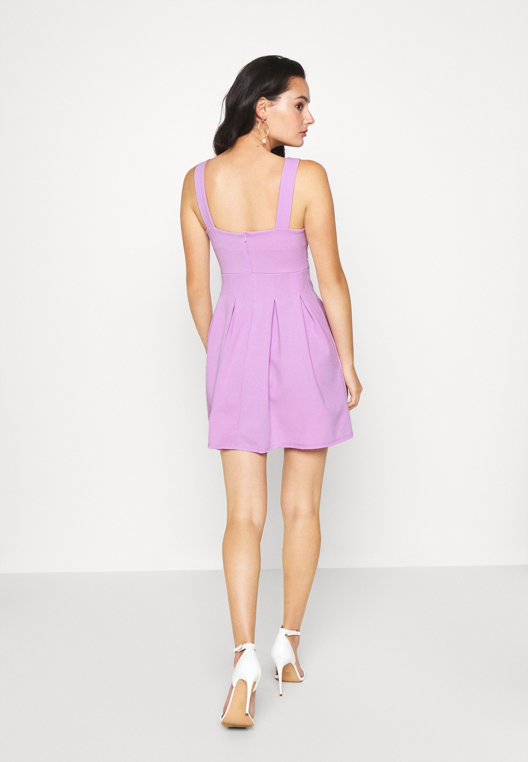 WAL G. TOP MINI DRESS Jerseykleid lilac/flieder