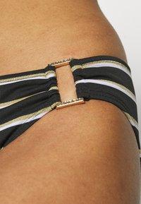 Lauren Ralph Lauren - RING FRONT HIPSTER - Bikini bottoms - black - 5