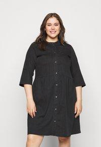 ONLY Carmakoma - CARCHICAGO LIFE  - Denim dress - black - 0