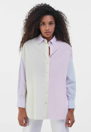 MIT COLOUR-BLOCK  - Button-down blouse - mauve