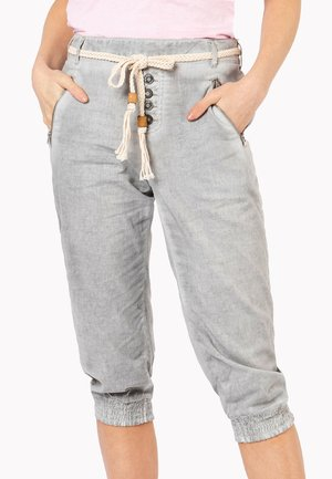 MIT ZIPPER - Shorts - light grey