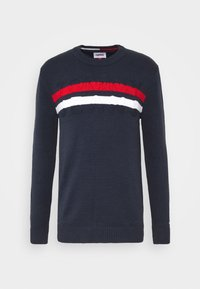 BLOCK STRIPE  - Jumper - twilight navy/multi