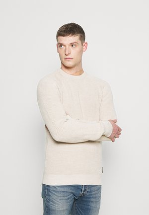 SLHIRVING CREW NECK - Trui - bone white
