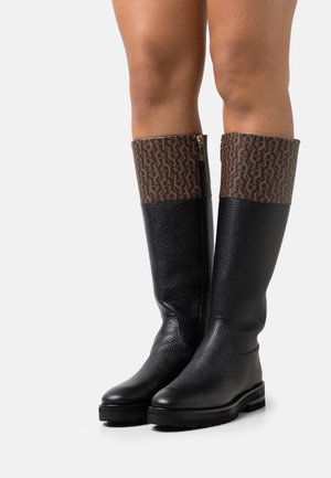 AVA  - Platform boots - black/fango