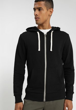 JJEHOLMEN - veste en sweat zippée - black/reg fit