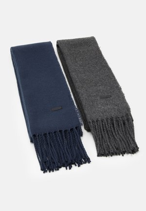 ONSCARLO SCARF 2 PACK - Schal - dark grey melange/dark navy