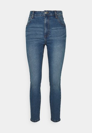HIGH RISE CROPPED - Jeans Skinny Fit - surfers blue