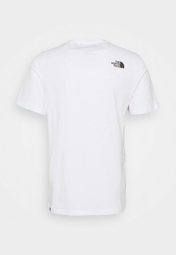 The North Face GRAPHIC TEE - T-shirt z nadrukiem - white/biały Odzież Męska CQJL