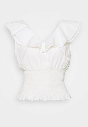 VIKRULLA CROPPED SMOCK - Print T-shirt - snow white