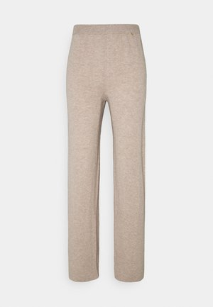 WOOL & CASHMERE - Trousers - atmosphere melange