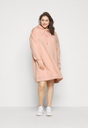 TEOFILA OVERSIZED HOODY DRESS - Day dress - coral cloud