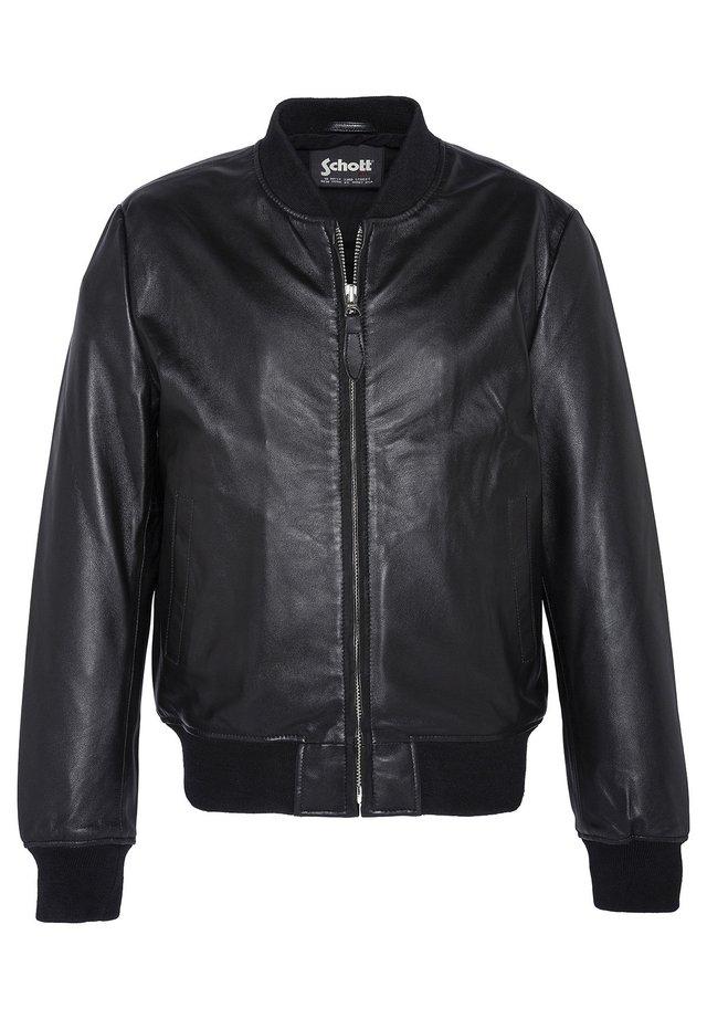 Veste en cuir - noir