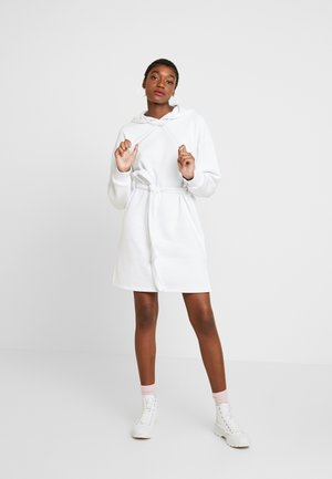DONNA ROMINA BELTED HOODIE DRESS - Day dress - white