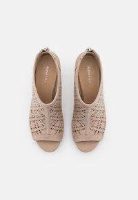 Anna Field - LEATHER - High Heel Stiefelette - beige - 5