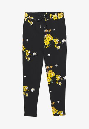 ONLPOPTRASH EASY PANT  - Trousers - black/golden