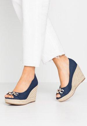 CARMELA - Høye hæler med åpen front - dark blue