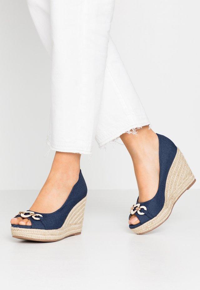 CARMELA - Peeptoe heels - dark blue