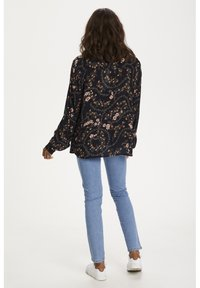 Kaffe - KAJUSTINA PPP - Bluser - black - brown flower print - 2