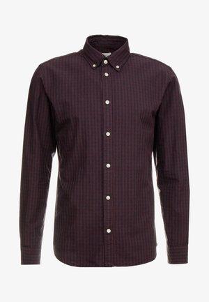 SLHSLIMGINGHAM CHECK - Shirt - dark navy/wine