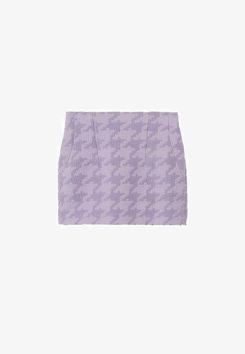 PIED-DE-POULE MINIROK - Mini skirt - lila