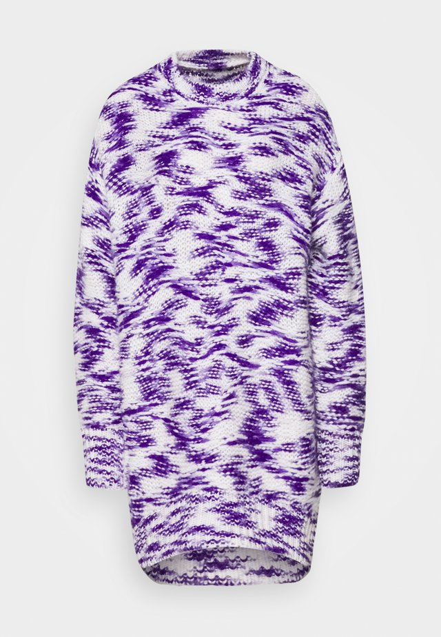 Jumper dress - purple/white