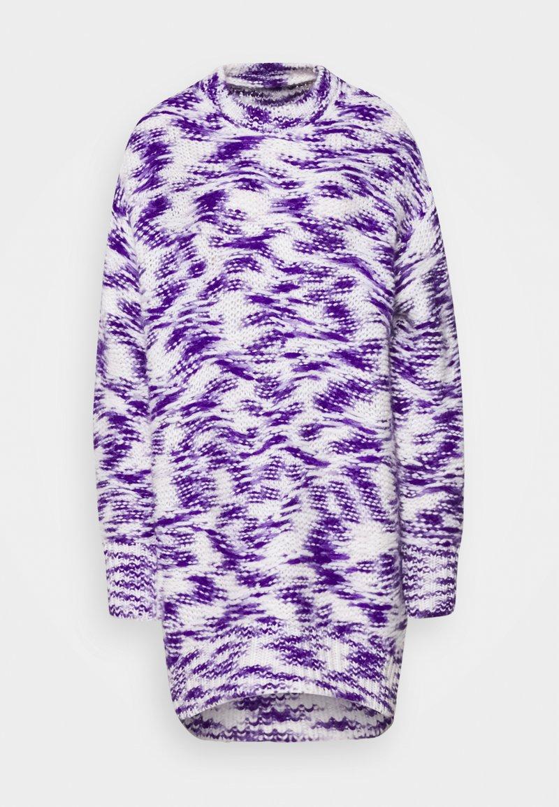 Diesel - Jumper dress - purple/white