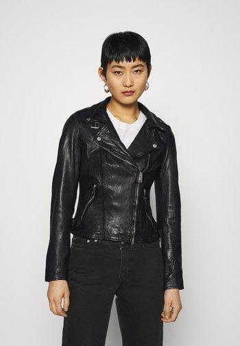 NEW UNDRESS ME - Leather jacket - black