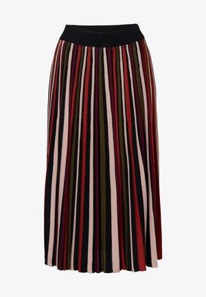 SUNRAY - A-line skirt - black/orange