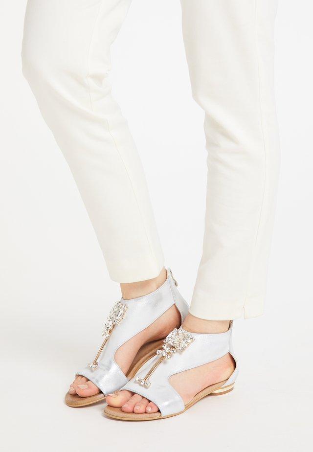 Sandalen - silber