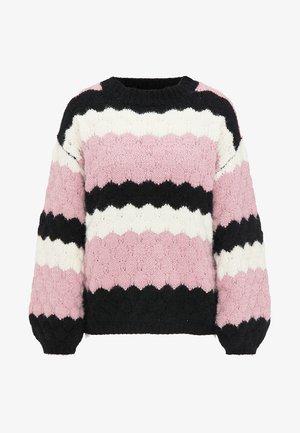 Jumper - pink/white