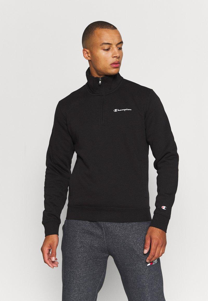 Champion - HALF ZIP - Sweatshirt - black