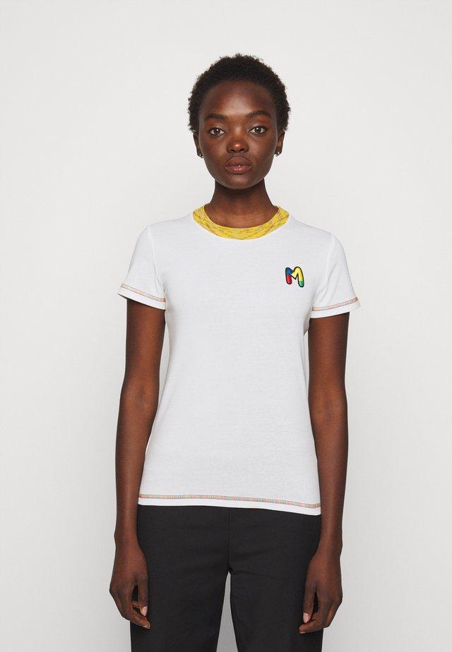 MANICA CORTA - T-shirt imprimé - white