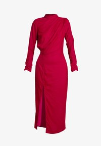 Hope & Ivy Tall - RUCHED SHOULDER AND WAIST DETAIL MIDI DRESS - Juhlamekko - red - 4