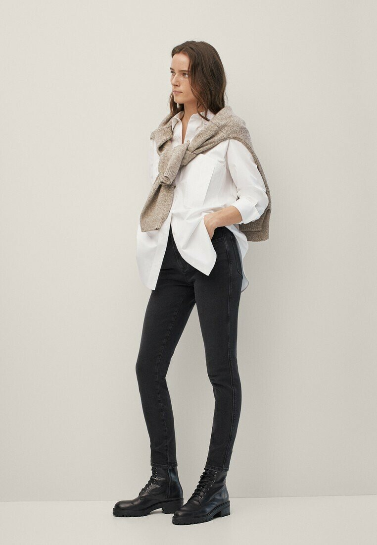 Massimo Dutti - Jeans Skinny Fit - black