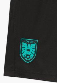 Puma - ÖSTERREICH ÖFB TRAINING ZIP POCKETS - Sports shorts - black/blue turquoise - 3