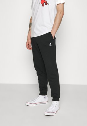 MENS EMBROIDERED STAR CHEVRON PANT - Tracksuit bottoms - black