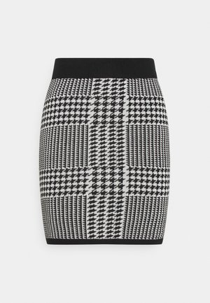 CARRO SKIRT - Miniskjørt - black/white