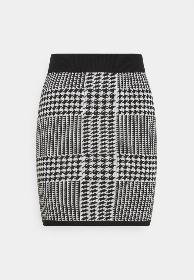 CARRO SKIRT - Minijupe - black/white