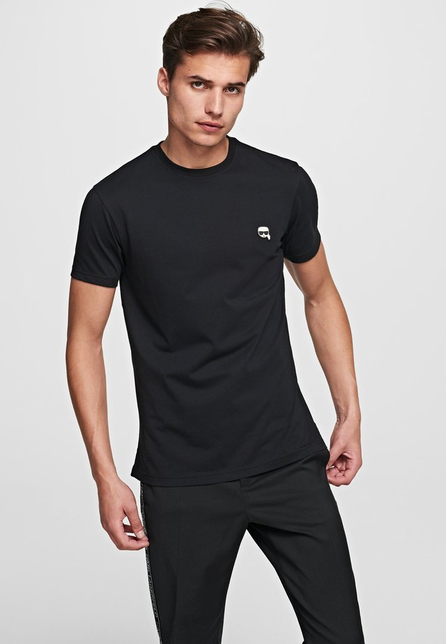 KARL LAGERFELD - T-shirt basique - black