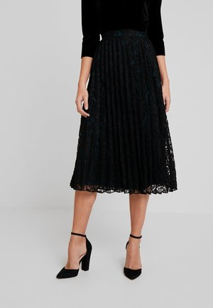 PLEATED SKIRT - A-linjainen hame - deep black