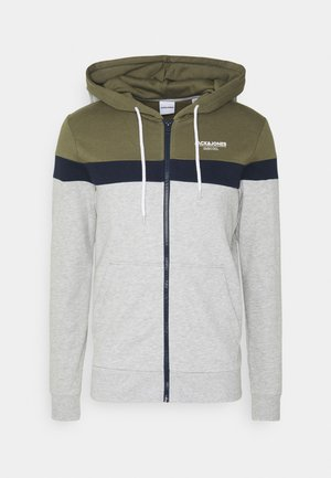 JJSHAKER ZIP HOOD - Zip-up hoodie - dusty olive