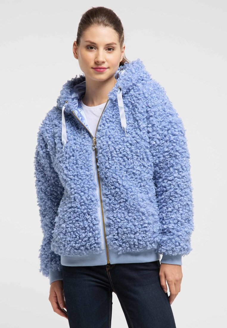 Particular Discount Women's Clothing myMo Winter jacket light blue XoiOdiMao