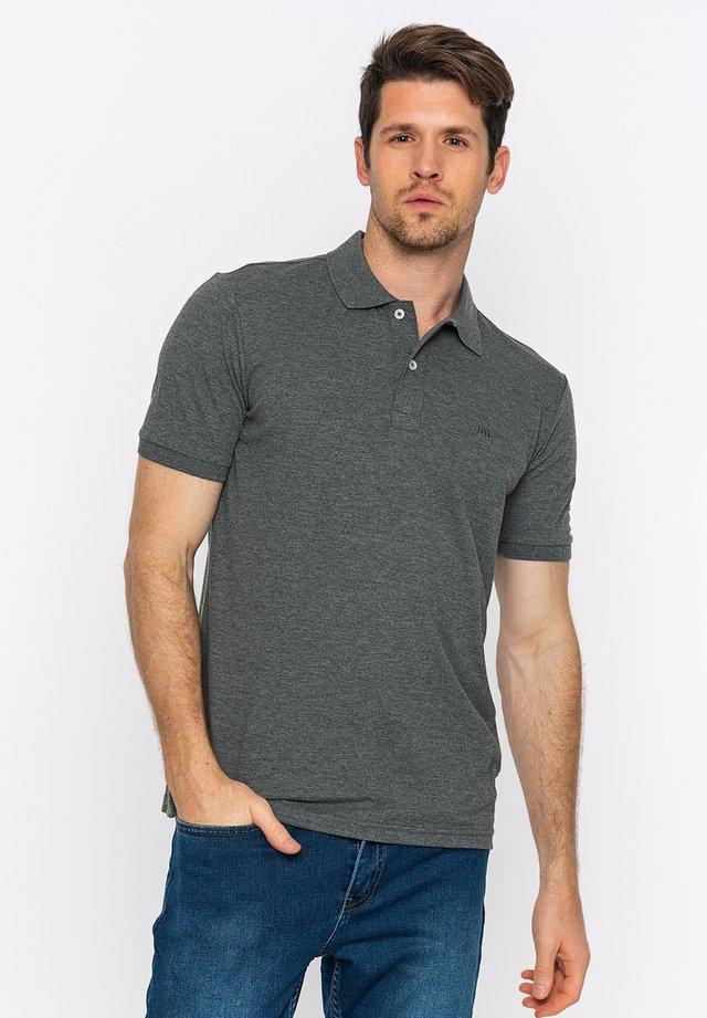Poloshirts - antracite melange