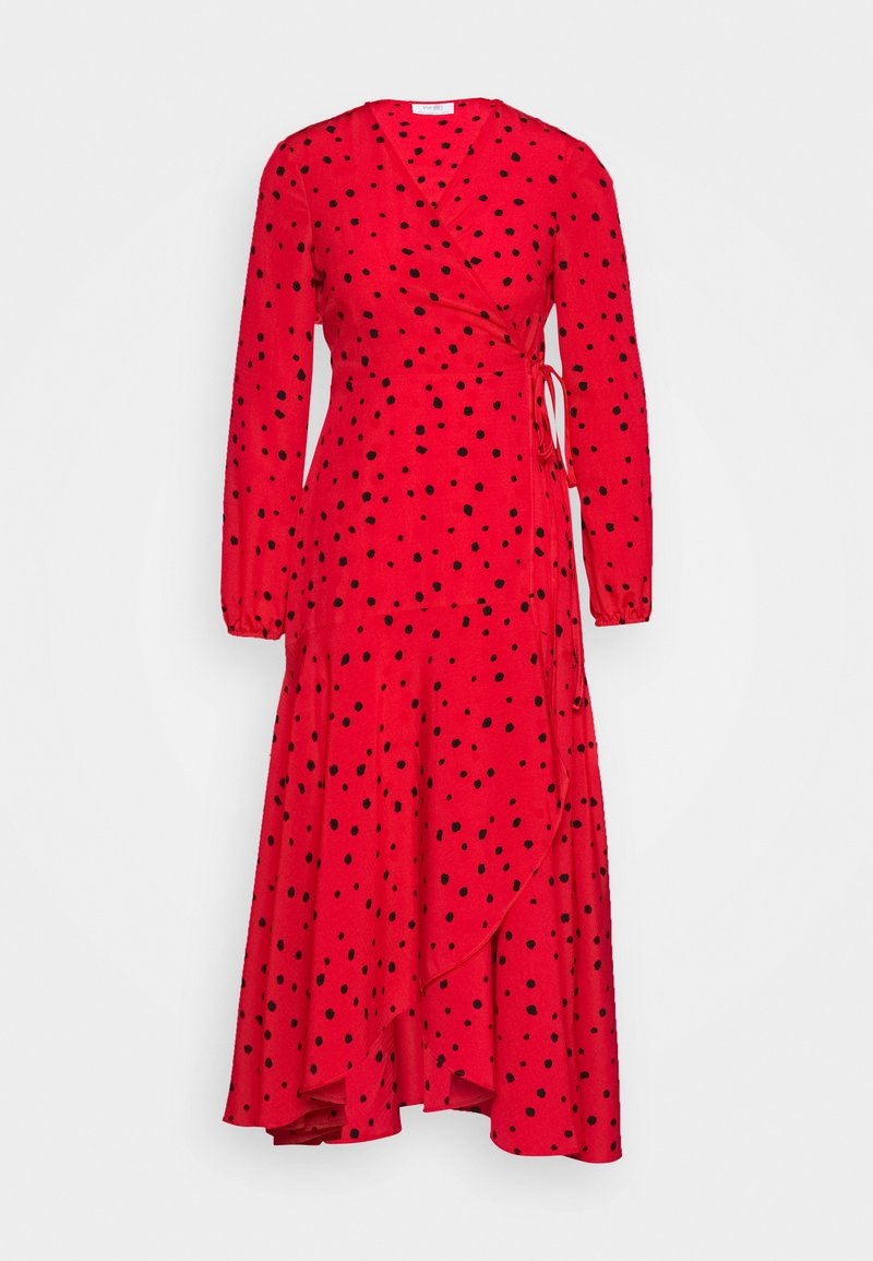 Wallis Petite - CORAL SPOT WRAP MIDI - Day dress - red