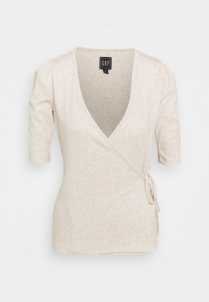 WRAP - T-shirts med print - oatmeal heather
