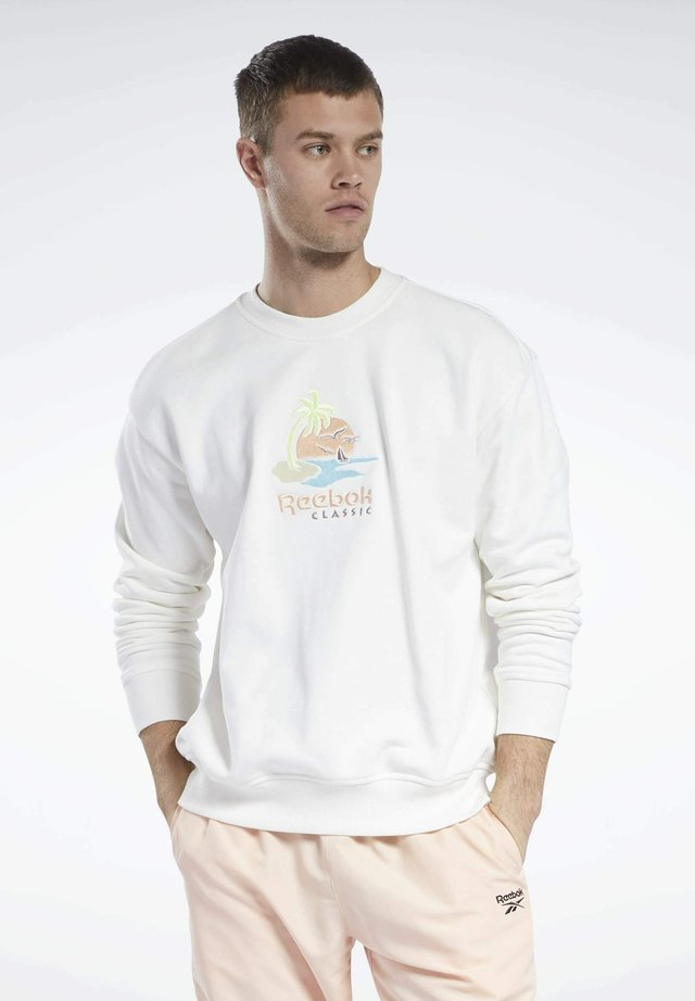 CL SR GRAPHIC CREW - Sweatshirt - chalk
