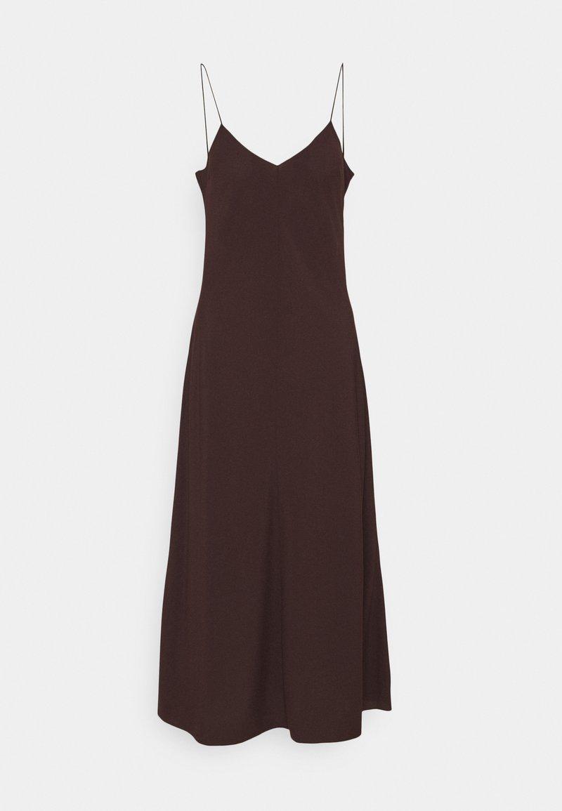 DESIGNERS REMIX - VALERIE LONG SLIP - Cocktail dress / Party dress - chocolate