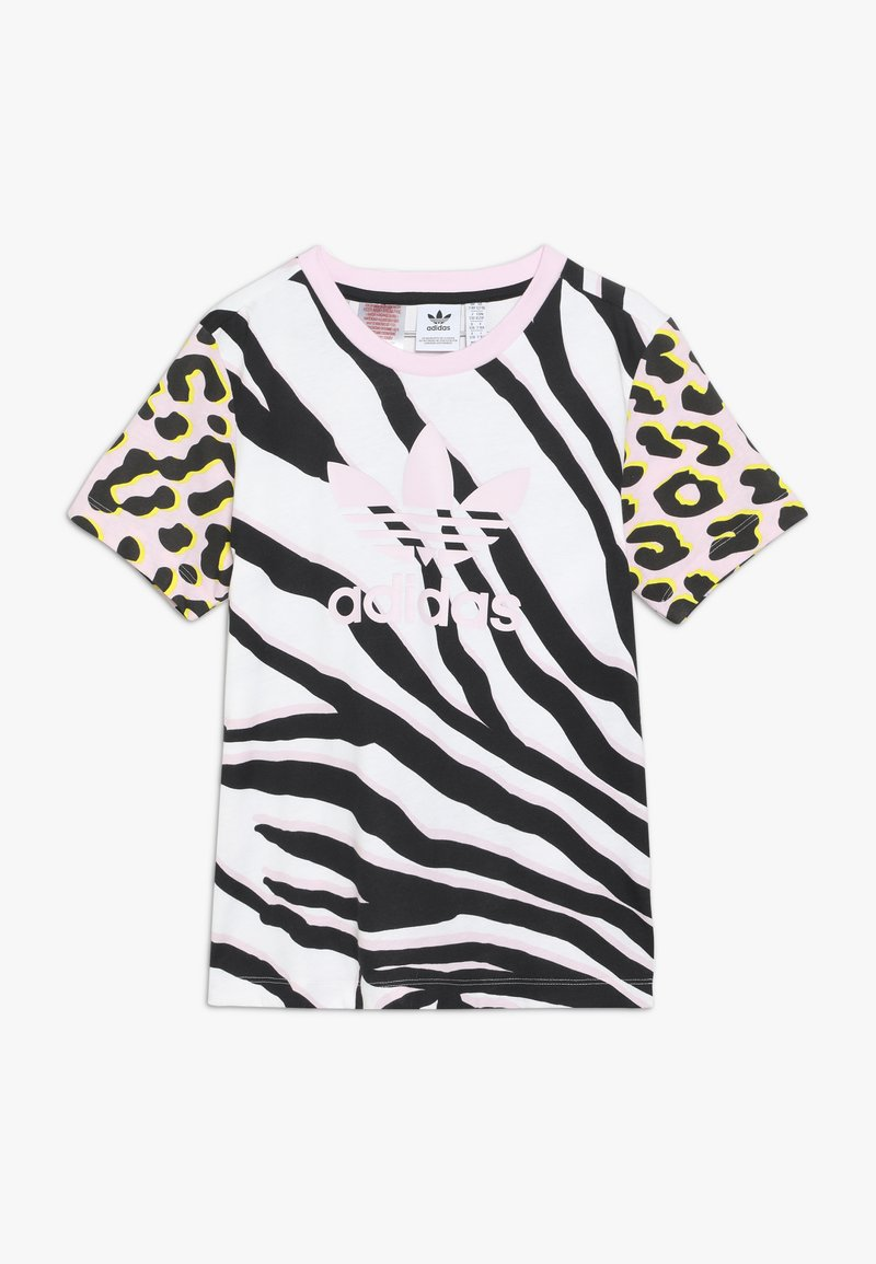 adidas Originals - TEE - T-shirt med print - pink/black